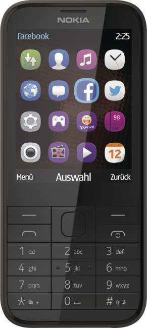 Nokia 225 Dual-SIM - klassisches Handy - mobiler Internetzugang - 2 MP - black