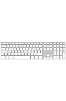 Apple Alu-Keyboard PC kompatible Tastatur DE weiß