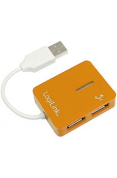 LogiLink - Smile - USB 2.0 Hub - 4-Port - 480 MBit/s - orange