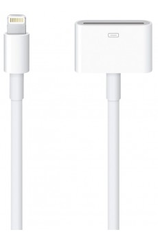 Apple - Adapter Kabel - Lightning auf 30-polig - 20 cm lang - weiß