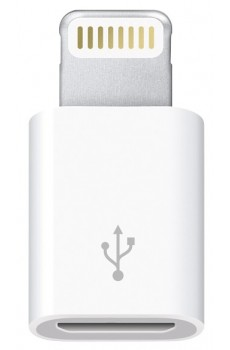 Apple - Adapter - Lightning auf Micro USB - weiß