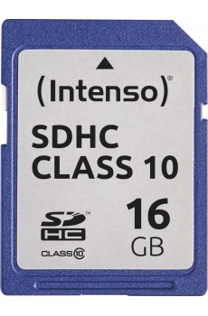 Intenso - Secure Digital Card SD - Class 10 - 16 GB Speicherkarte