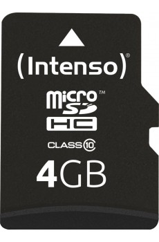 Intenso microSDHC 4 GB Class 10 inkl. SD-Adapter