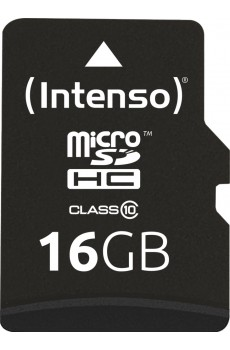 Intenso microSDHC 16 GB Class 10 inkl. SD-Adapter