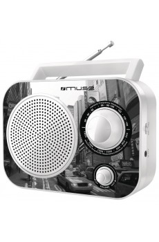 Muse M-060 NY - portables Radio - AUX-Eingang - weiß