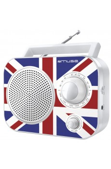 Muse M-060 UK - portables Radio - AUX-Eingang - weiß