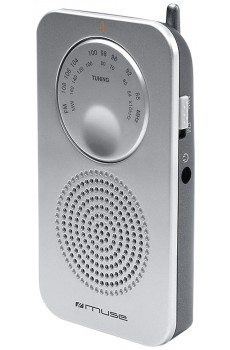 Muse M-01 RS Poket-Radio silber
