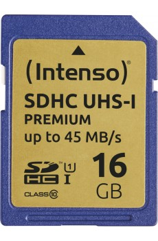 Intenso SD Card UHS-I - 16 GB - SDHC - Class 10
