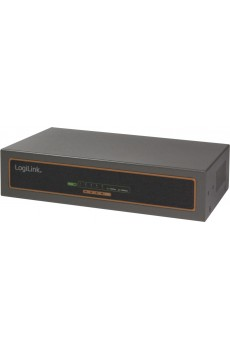 LogiLink Power over Ethernet (PoE) Switch, 10/100/1000 MBit/s, 5-port