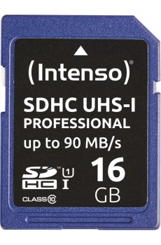 Intenso Secure Digital Card SD UHS-I Professional 16 GB Speicherkarte