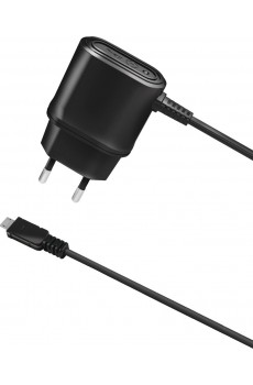 Celly Reiselader 1A Micro USB  black