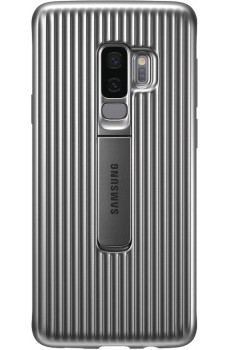 Samsung Protective Standing Cover für Galaxy S9 / G960F silber