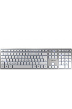 CHERRY KC 6000 Slim Corded Keyboard, silber