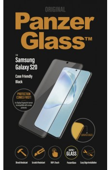 PanzerGlass Samsung Galaxy S20 Case Friendly Curved Edges, black