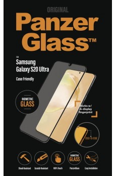 PanzerGlass Samsung Galaxy S20 Ultra Curved Case Friendly Biometric Glass