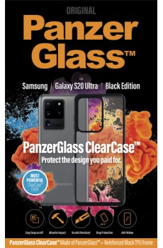 PanzerGlass ClearCase with BlackFrame for Samsung Galaxy S20 Ultra