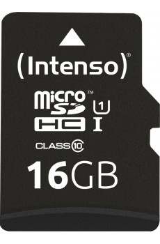 Intenso microSDHC 16 GB UHS-I Class 10 inkl. SD-Adapter