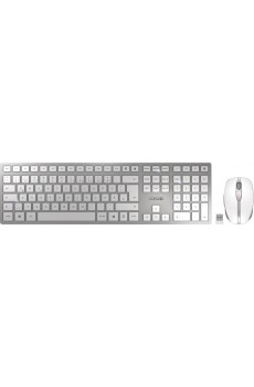 CHERRY DW 9000 SLIM Keyboard and Mouse Set, silber/weiß