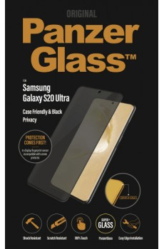 PanzerGlass Samsung Galaxy S20 Ultra CF Privacy Curved Edges, black